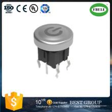 avec poignée de cercle bleu clair 6 * 6 avec lampe interrupteur tactile avec interrupteur de bouton de lampe, interrupteur tactile avec LED, commutateur anti-poussière 6X6mm, RoHS