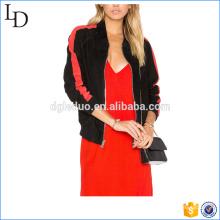Боковые прорезные карманы, куртка-бомбер для женщин спорт бейсбол куртка