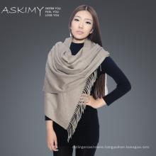 high quality new design camel 100% cashmere scarf