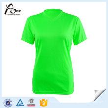Neonfarben-Qualitäts-T-Shirts Plain Laufabnutzung