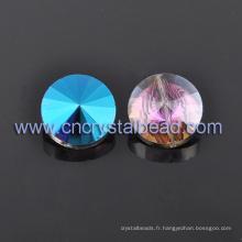 Vente chaude AB couleur cristal perle ronde pour bijoux