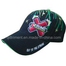 Splash Firework bordado Gorro de béisbol de ocio de sarga de algodón (TMB00650-1)