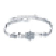 Damen 925 Sterling Silber Kristall Schneeflocke Armband