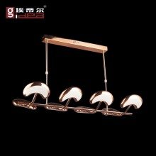 rose gold color led hanging lamp led chandelier lights parts