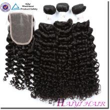 Прямо, Объемная Волна Вьющиеся Индонезийский Волос Weave