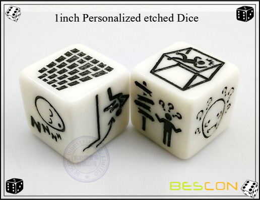 1inch Personalized etched Dice