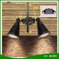 Projecteur solaire mené extérieur sans fil de 400 lumens RVB 8LED LED, double lumière principale imperméable de jardin de bâti de mur