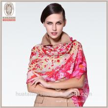 Grace flor de cerejeira flor xale lenço de lã por atacado