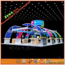 La vitrina de aluminio personalizada de la cabina de exhibición de 6 x 12 exhibe gráficos de tela impresos