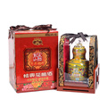 Hua Diao bouteille de porcelaine vieillie au vin