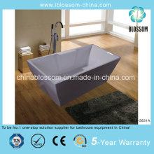 Retângulo de acrílico Lucite elegante imersão banheira ereta (BLS-5831A)