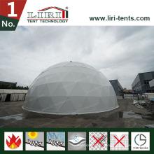 Tente de dôme géodésique avec toit transparent