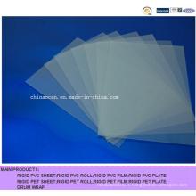 Feuille PVC transparente mate pour matériel d'impression
