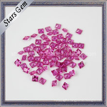 Jewelry Stone Synthetic Corundum Square Ruby