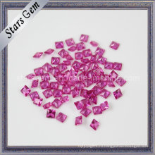 Ювелирный Камень Синтетический Корунд Квадратный Рубин