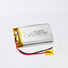 Rechargeable Li-Po Battery 3.7V 1800mAh 103450 Li-Polymer Battery Lithium Battery