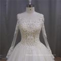 Bola vestido vestido de noiva de manga longa muçulmano champanhe (XF1080)