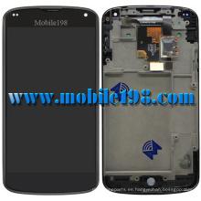 Pantalla LCD de repuesto para LG Google Nexus 4 E960 con toque digitalizador