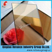 Vidro reflexivo de bronze dourado de 5mm para a decoração