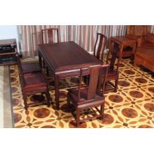 Mesa de cena High-End 7sets Siam Rosewood con estilo Ming