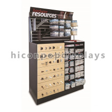 Creative Floor Standing Wood Outillage à main en métal Publicité Racks et supports pour quincaillerie