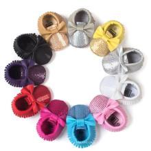 11 Цвет Детская Обувь Бантом И Блесток Противоскользящие Мокасины Младенческой Малыша