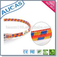 Cat5e / 6 réseau ethernet câble de raccordement plat / UTP FTP 24AWG 4 paires Cordon de raccordement plat coeur 8 centimètres