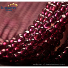 Vente en cours de vente Gemstone Loose Strand 4mm Brésil Natural Garnet Gemstone