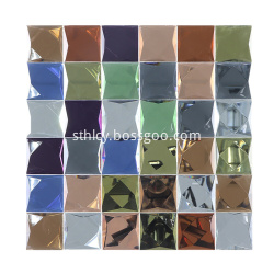 Color Glass Rainbow Mosaic Tile