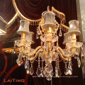 Candle Holding Hanging Chandelier, Crystal light para decoración LT-85364