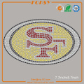 SF 49ers hotfix iron on rhinestone transfers
