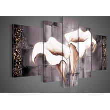 Nouvelle peinture à l'huile de fleurs à la floraison