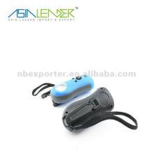Mini lampe de poche dynamo avec radio