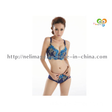 Sexy Big Size Push up Bra Set, Floral Embroidery Lace Women Underwear Set