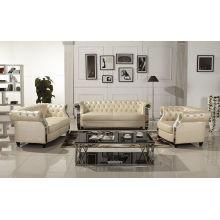 Sofá de couro moderno Europeu Chesterfield