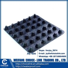 12mm high density polyethylene plastic dimple drainage waterproof board
