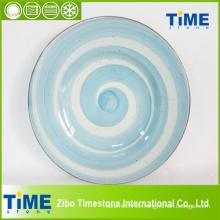 Großhandelshandgemachte farbige keramische Platte (082503)