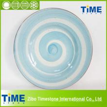 Plaque en céramique colorée à la main en gros (082503)