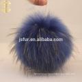 Raccoon Fur Ball Blue Fluffy 12cm Raccoon Pom Pom Fur Ball