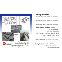 heavy-duty/ non-slip Hot-dipped Galvanized Steel Grating Design