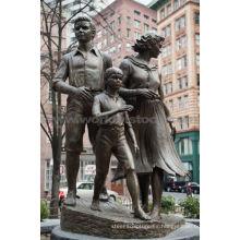 Gran escultura familiar de bronce CLBS-L056R