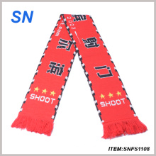 2015factory Sale New Arrival Custom 100%Acrylic Team Scarf