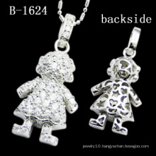 Unique Small Dangling Lovely Little Girl Silver Pendant (S-1624)