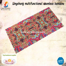 Entwerfen Sie Ihren eigenen Stoff Billig Großhandel dekorative Kopfbedeckung Polyester benutzerdefinierte Bandana