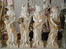 Tamanho de vida religiosa as quatro estátuas de mármore temporada deusa
