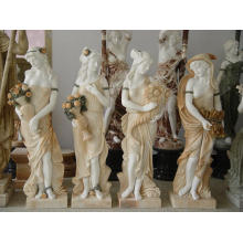 Life Size Religious The Four Season Goddess Marble Statues