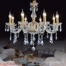Gran lámpara de araña de cristal de oro para hotel 81026