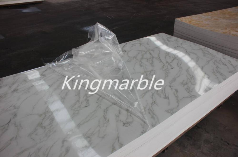pvc wall panel marble panel uv board for interior wall decorations