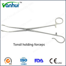 E. N. T Surgical Instruments Tonsil Holding Forceps