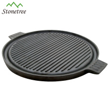 New Wax Finished Pizza Pan Cast Iorn Round Pizza Stone